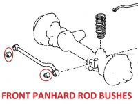 Toyota Land Cruiser 4.2D HZJ81 Import (1990+) -  Front Panhard Rod Bush Kit (2 Pcs)